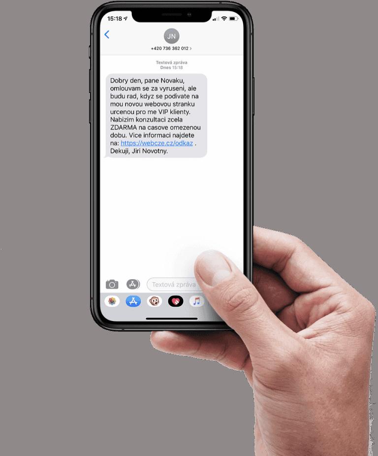 Zprava SMS kontaktu